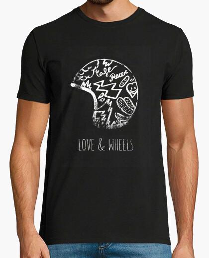Camiseta Love & wheels Cafe racer