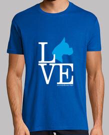 Love boxer dog perro azul