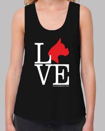 Love boxer dog perro rojo