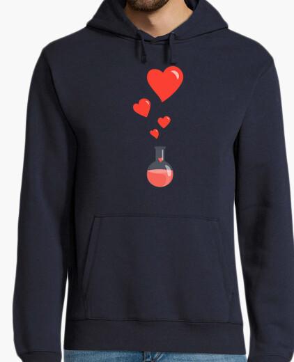 Love Chemistry Flask of Hearts Geek hoody