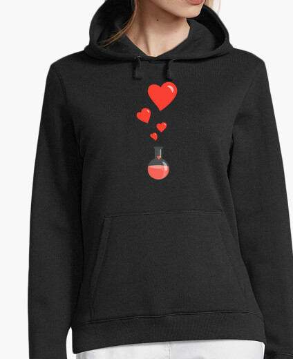 Love Chemistry Flask of Hearts Geek hoody