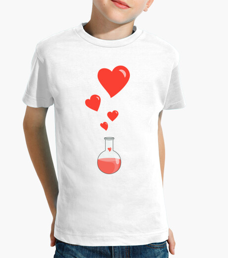Love Chemistry Flask of Hearts Geek white children's clothes