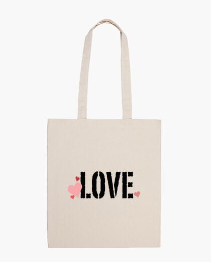 Bolsa Love con corazones