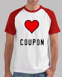 love coupons t shirt baseball
