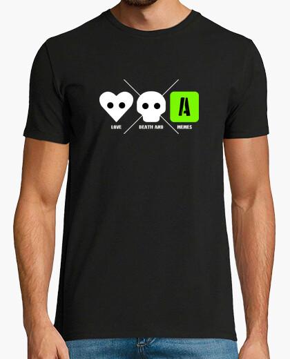 Tee-shirt love death and memes