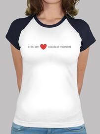 love en code binaire, t-shirt femme