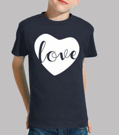 Love en un solo corazon blanco