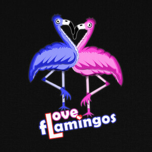 Camisetas LOVE FLAMINGOS