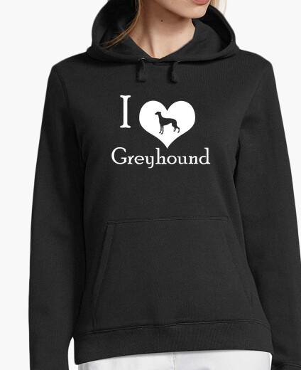 Sweat love grey chien grey (w)