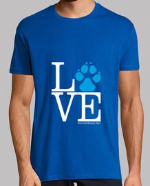 Love huella perro azul