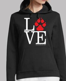 Love huella perro rojo
