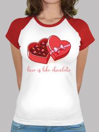 love is like chocolate