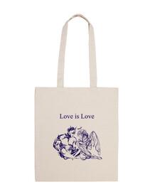 Love Is Love Bolsa tela 100% algodón