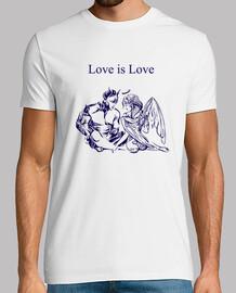 Love Is Love Hombre, manga corta, blanco, calidad extra