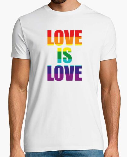 Love is love lgtb rainbow gay t-shirt