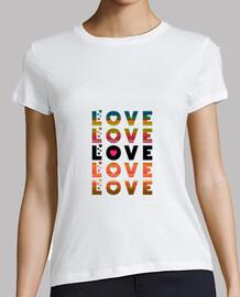 love love, Mujer, manga corta, blanca, calidad premium