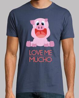 Love Me Mucho Camiseta Chico