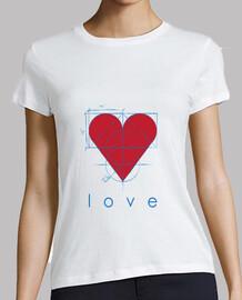 Love, Mujer, manga corta, blanca, calidad premium