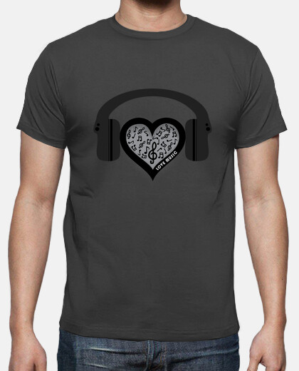 love music rhythm heart beat mens tshirt