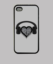 love music rythme cardiaque battre coque iphone