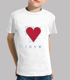 Love, Niño, manga corta, blanco