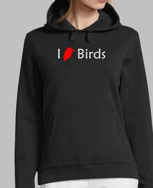 love oiseaux (rouge-blanc)