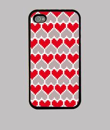 love pixel rojo-gris