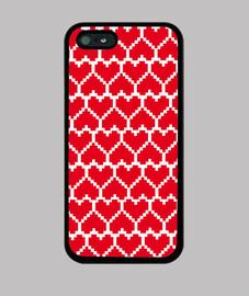 love pixel rojo sobre blanco