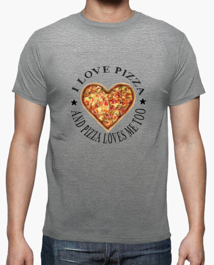 Camiseta Love Pizza black letter