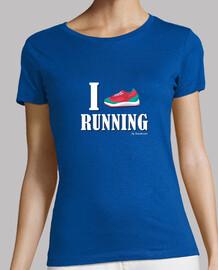 love running - white text