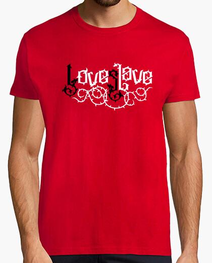 Tee-shirt love slave - love slave (blanc noir)