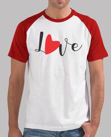 Love un corazon rojo