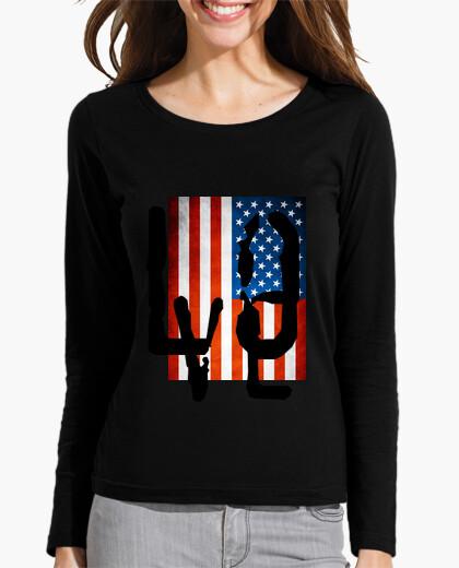 Camiseta Love, Usa flag
