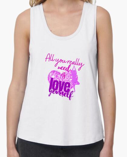 Love yourself suspenders t-shirt