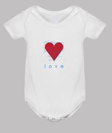 Love,Body bebé, blanco