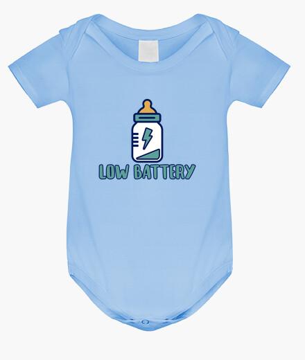Ropa infantil Low battery!  Body bebé, azul cielo