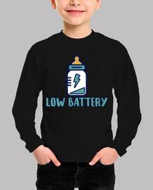 Low battery!  Body bebé, azul cielo
