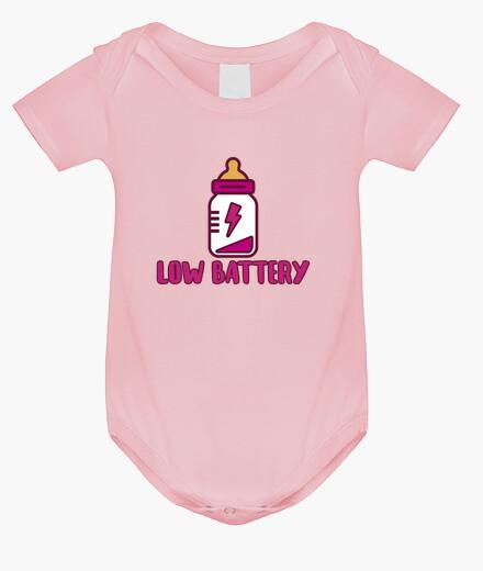 Ropa infantil Low battery! Body bebé, rosa