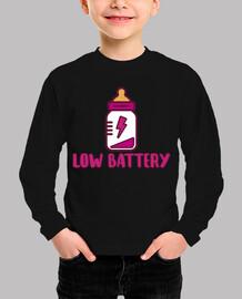 Low battery! Body bebé, rosa