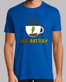Low battery! Hombre, manga corta, pistacho, calidad extra