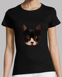 low poly shirt femme de chat
