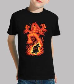 l'uccello del fuoco dentro - maglietta per bambini