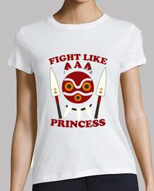 lucha como princesa - princesa mononoke
