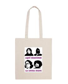 Lucha feminista Bolsa tela 100% algodón