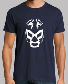 Luchador Enmascarado Hombre, manga corta, azul marino, calidad extra