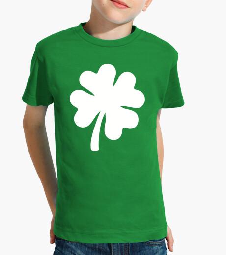 Lucky green shamrock kids clothes