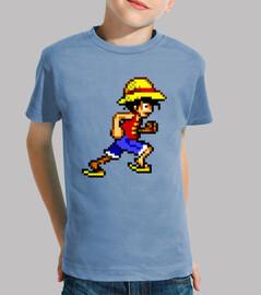 Luffy 16bit (Camiseta Niño)