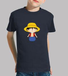 Luffy pequeño niño