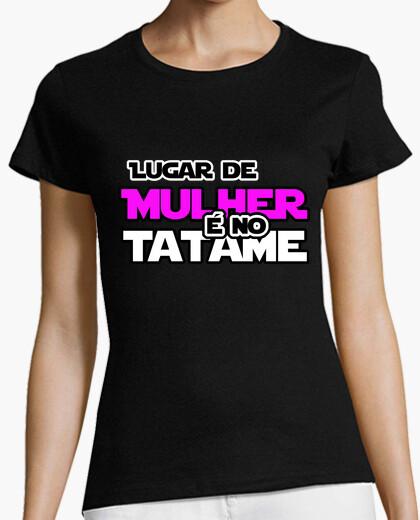 Camiseta Lugar de Mulher é no Tatame