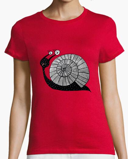 T-shirt lumaca fumetto carino con gli occhi a spirale
